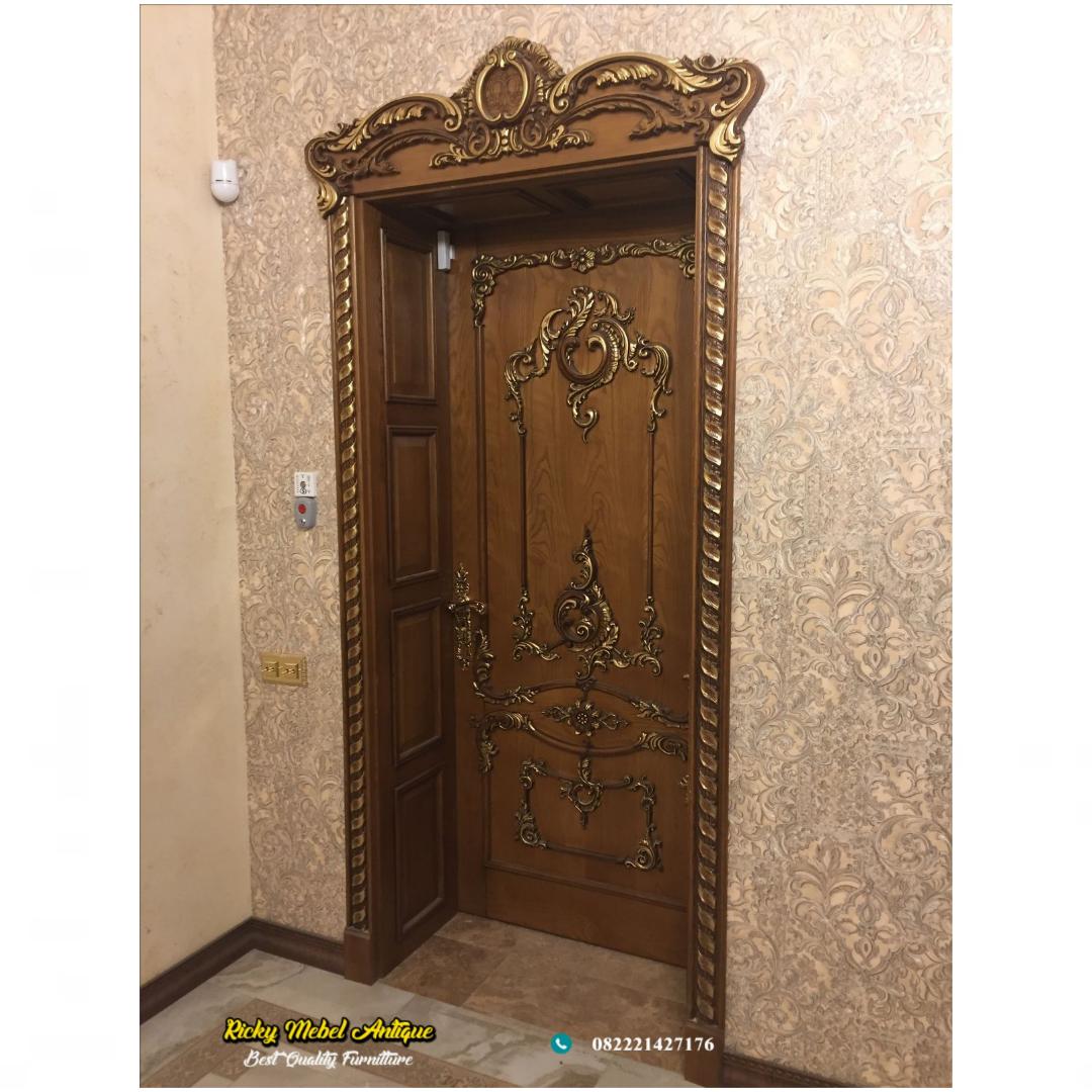 pintu rumah jati klasik