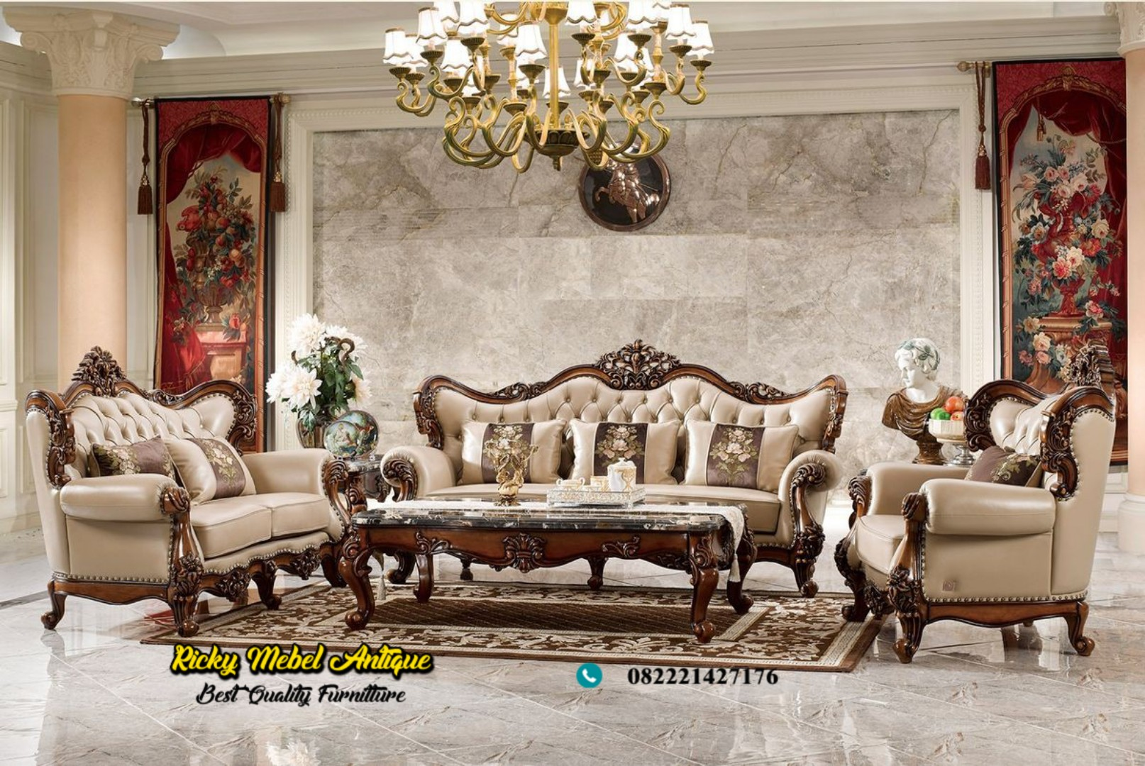 set sofa tamu jati