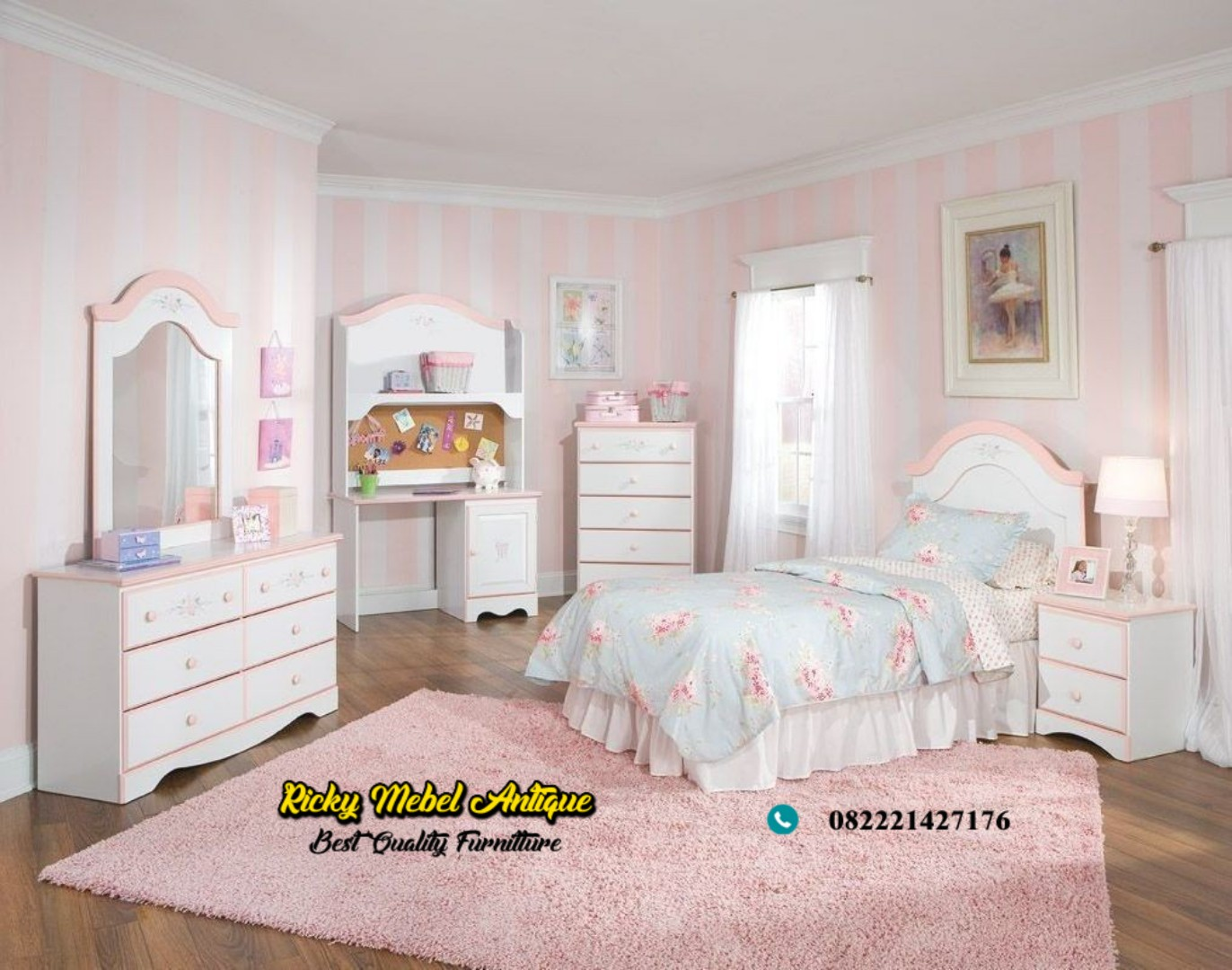 set tempat tidur anak kekinian