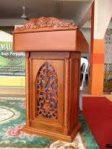 Podium Kayu Jati Ukir