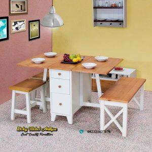 Meja makan minimalis lipat