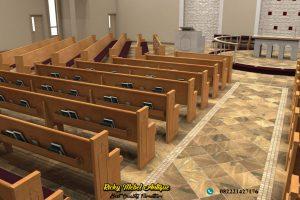 Bangku Gereja Jati Jepara