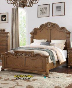 Tempat Tidur Jati Veener Mewah