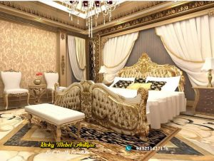 Model tempat tidur ukiran mewah jepara desain terbaru