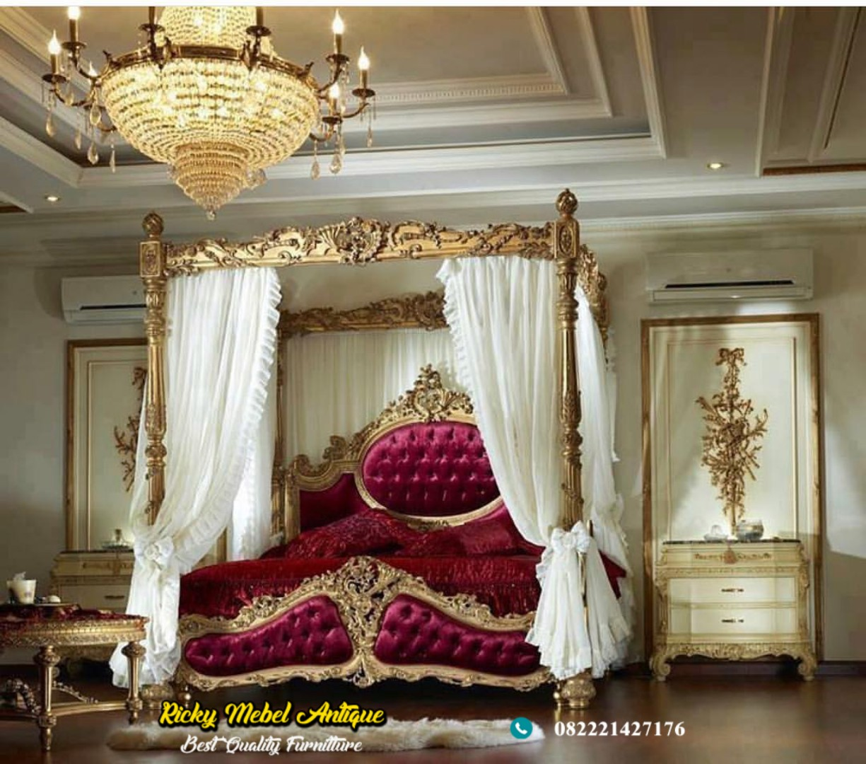 jual tempat tidur ukir mewah kanopi