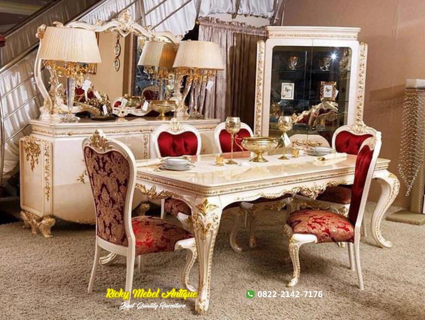Set meja makan mewah turki