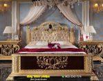 Tempat Tidur Klasik Ukiran Gold