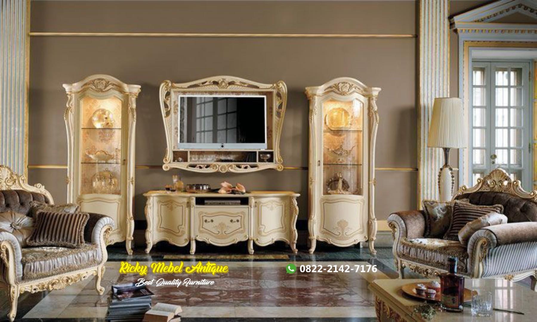 Set TV cabinet mewah terbaru