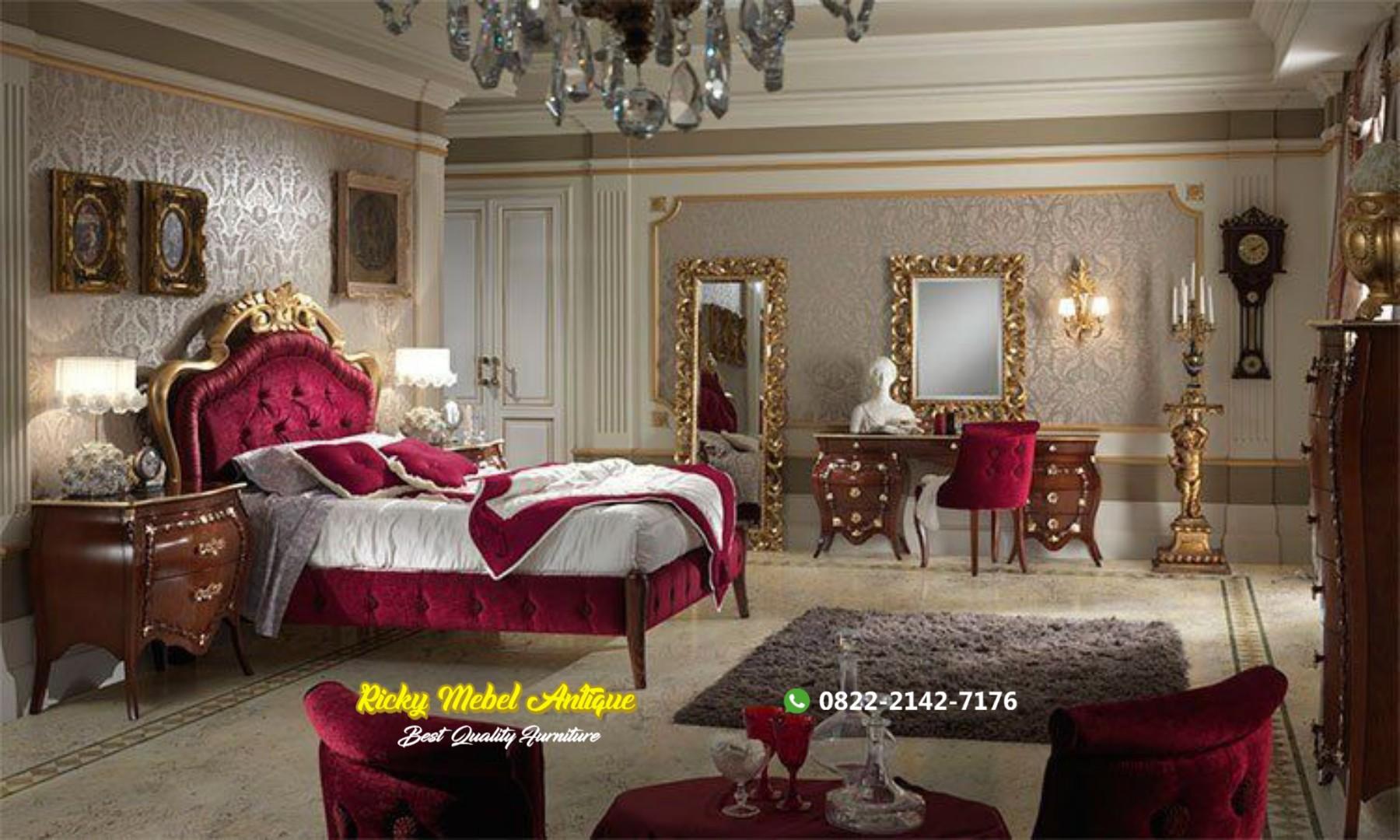 Set Tempat tidur mewah jati klasik