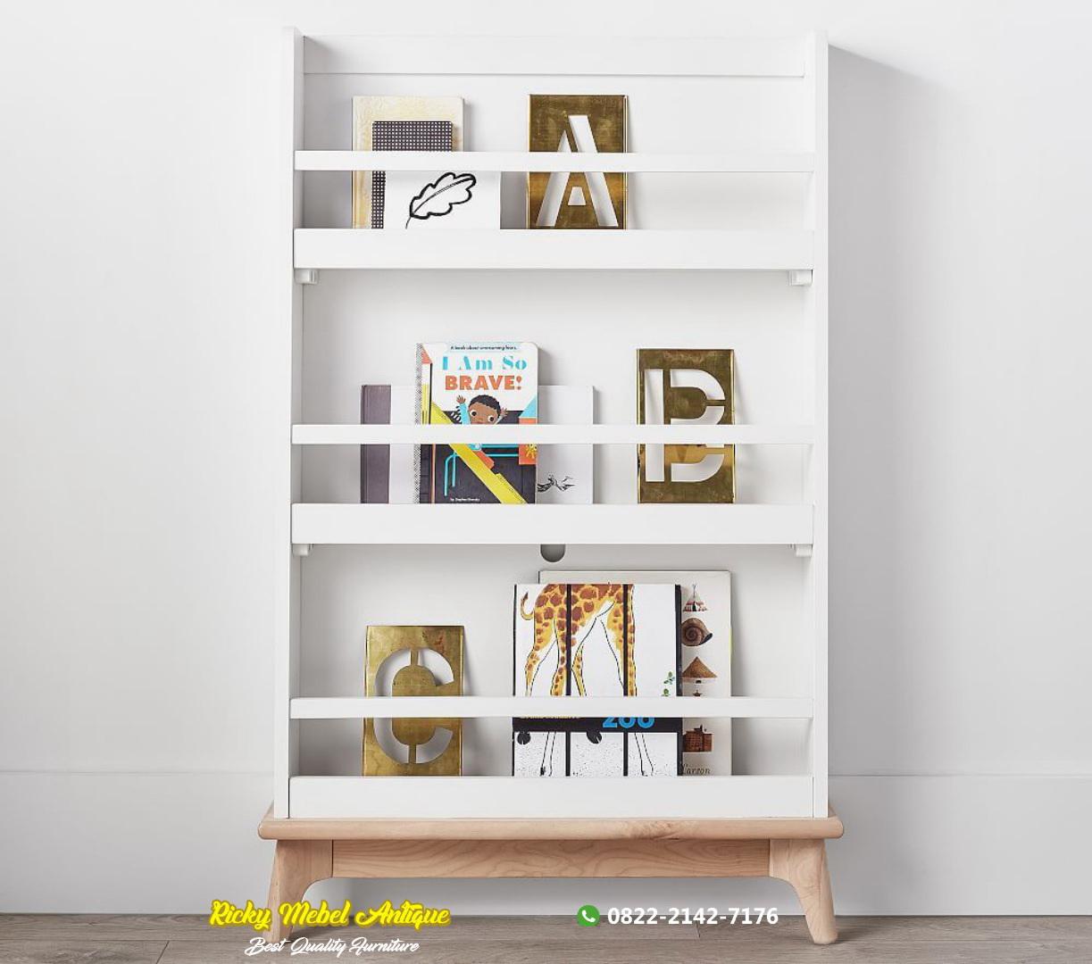 rak buku minimalis modern Jepara