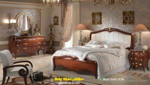Set Tempat Tidur Jati Mewah Modern