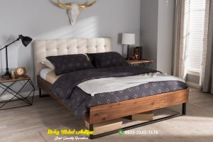 Tempat Tidur Minimalis Industrial Jati